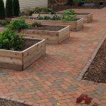 Paver patio with raised planters