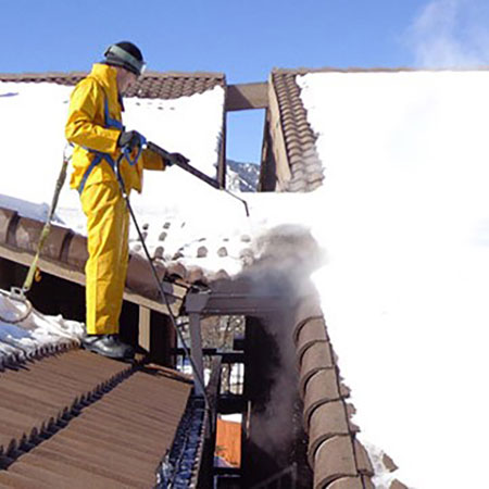 ice dam removal with steam